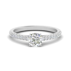 U Prong Thin Diamond Ring