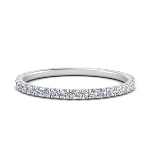 French Pave Eternity Diamond Band