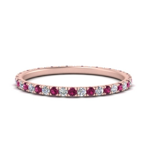 french-pave-full-eternity-diamond-band-with-pink-sapphire-in-FD9168BGSADRPI-NL-RG