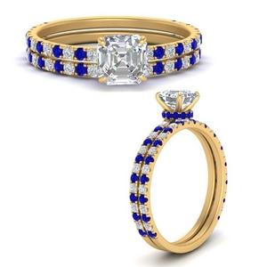three-quarter-asscher-cut-diamond-gallery-bridal-ring-set-with-sapphire-in-FD9168ASGSABLANGLE3-NL-YG