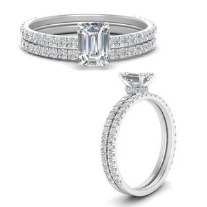 three-quarter-emerald-cut-diamond-gallery-bridal-ring-set-in-FD9168EMANGLE3-NL-WG