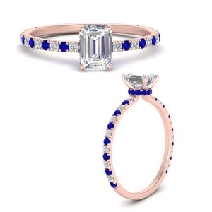 Three Fourth Under Halo Engagement Ring