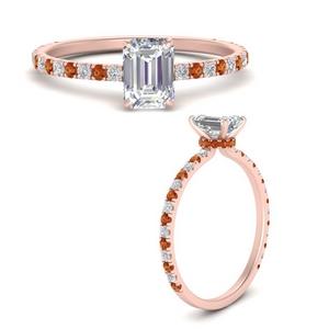 three-fourth-under-halo-emerald-cut-diamond-engagement-ring-with-orange-sapphire-in-FD9168EMRGSAORANGLE3-NL-RG