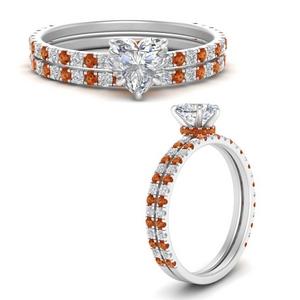 three-quarter-heart-shaped-diamond-gallery-bridal-ring-set-with-orange-sapphire-in-FD9168HTGSAORANGLE3-NL-WG