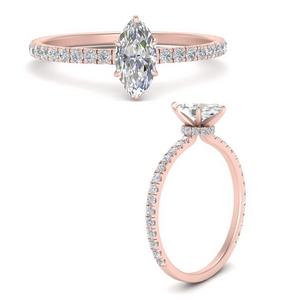 three-fourth-under-halo-marquise-cut-diamond-engagement-ring-in-FD9168MQRANGLE3-NL-RG