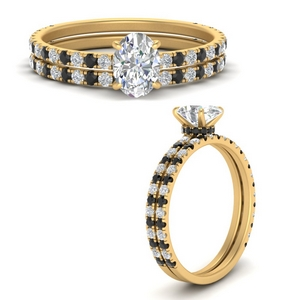 three-quarter-oval-shaped-gallery-bridal-ring-set-with-black-diamond-in-FD9168OVGBLACKANGLE3-NL-YG