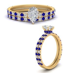 three-quarter-pear-shaped-diamond-gallery-bridal-ring-set-with-sapphire-in-FD9168PEGSABLANGLE3-NL-YG