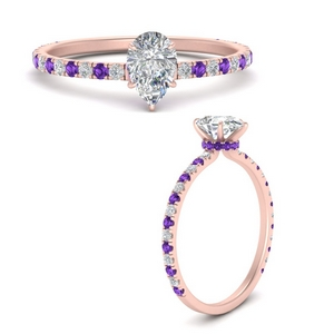three-fourth-under-halo-pear-shaped-diamond-engagement-ring-with-purple-topaz-in-FD9168PERGVITOANGLE3-NL-RG