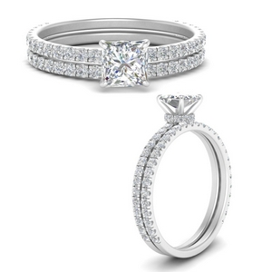 three-quarter-princess-cut-diamond-gallery-bridal-ring-set-in-FD9168PRANGLE3-NL-WG
