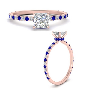 three-fourth-under-halo-princess-cut-diamond-engagement-ring-with-sapphire-in-FD9168PRRGSABLANGLE3-NL-RG