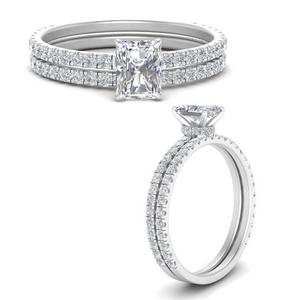 three-quarter-radiant-cut-diamond-gallery-bridal-ring-set-in-FD9168RAANGLE3-NL-WG