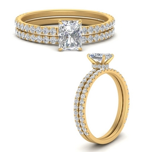 three-quarter-radiant-cut-diamond-gallery-bridal-ring-set-in-FD9168RAANGLE3-NL-YG
