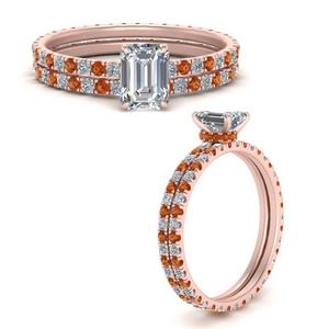 under-halo-eternity-emerald-cut-diamond-wedding-band-set-with-orange-sapphire-in-FD9168EMGSAORANGLE3-NL-RG