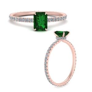 Emerald Cut Emerald Rings