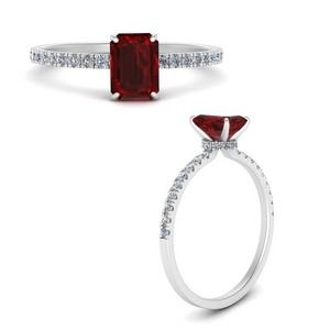 Ruby Hidden Halo Ring