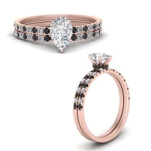 hidden-halo-half-way-pear-shaped-wedding-ring-set-with-black-diamond-in-FD9168PEGBLACKANGLE3-NL-RG