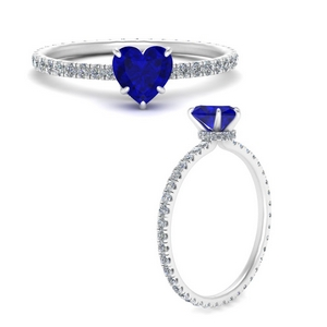 Heart Sapphire Eternity Ring For Women