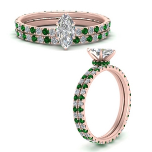 under-halo-eternity-marquise-cut-diamond-wedding-band-set-with-emerald-in-FD9168MQGEMGRANGLE3-NL-RG