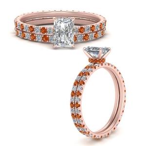 under-halo-eternity-radiant-cut-diamond-wedding-band-set-with-orange-sapphire-in-FD9168RAGSAORANGLE3-NL-RG