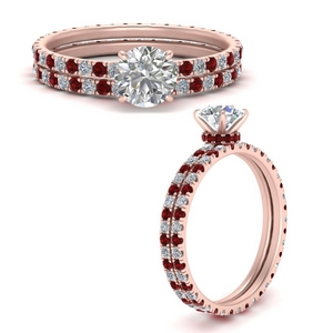 under-halo-eternity-round-cut-diamond-wedding-band-set-with-ruby-in-FD9168ROGRUDRANGLE3-NL-RG