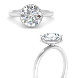 Simple Hidden Halo Ring