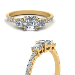 petite-micropave-asscher-cut-three-stone-diamond-engagement-ring-in-FD9383ASRANGLE3-NL-YG