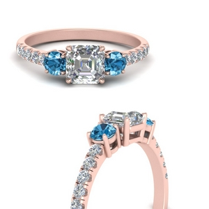 petite-micropave-asscher-cut-three-stone-diamond-engagement-ring-with-blue-topaz-in-FD9383ASRGICBLTOANGLE3-NL-RG