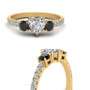 petite-micropave-heart-shaped-three-stone-engagement-ring-with-black-diamond-in-FD9383HTRGBLACKANGLE3-NL-YG