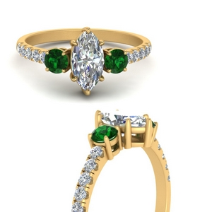 petite-micropave-marquise-cut-three-stone-diamond-engagement-ring-with-emerald-in-FD9383MQRGEMGRANGLE3-NL-YG