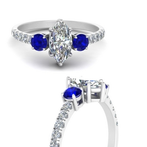 petite-micropave-marquise-cut-three-stone-diamond-engagement-ring-with-sapphire-in-FD9383MQRGSABLANGLE3-NL-WG