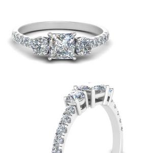 Princess Cut Lab Diamond Ring