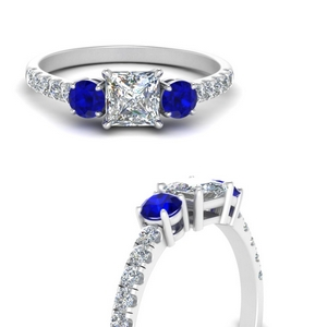 petite-micropave-princess-cut-three-stone-diamond-engagement-ring-with-sapphire-in-FD9383PRRGSABLANGLE3-NL-WG