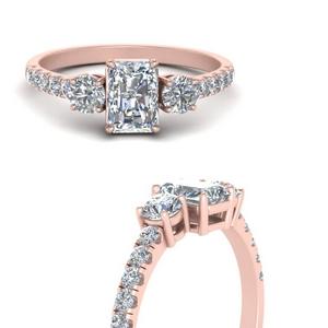 Petite Micropave Three Stone Diamond Ring