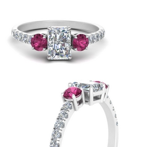 petite-micropave-radiant-cut-three-stone-diamond-engagement-ring-with-pink-sapphire-in-FD9383RARGSADRPIANGLE3-NL-WG