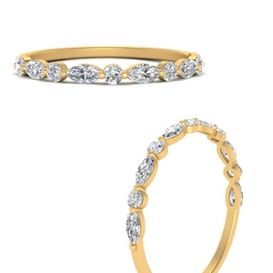 Shared Prong Marquise Diamond Ring