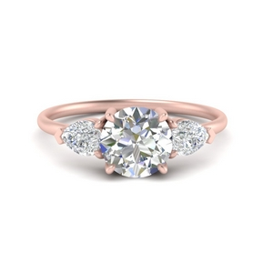 Pear Accent Three Stone Ring