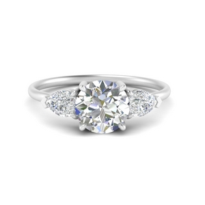 Classic Pear Diamond 3 Stone Engagement Ring