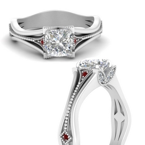 vintage-floral-cushion-cut-diamond-engagement-ring-with-ruby-in-FD9475CURGRUDRANGLE3-NL-WG