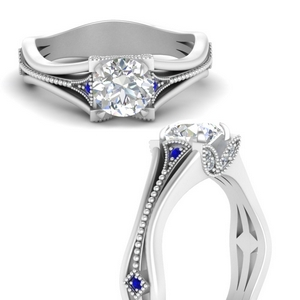 vintage-floral-round-cut-diamond-engagement-ring-with-sapphire-in-FD9475RORGSABLANGLE3-NL-WG