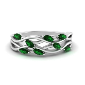 Leaf Wide Wedding Band