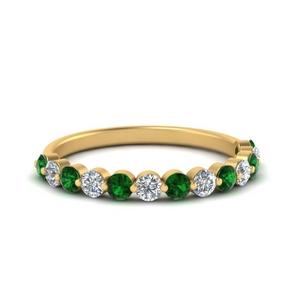 shared-single-prong-half-way-wedding-band-with-emerald-in-FD9478B(0.50ct)GEMGR-NL-YG