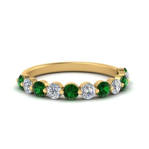 half-way-single-prong-diamond-wedding-band-ring-with-emerald-in-FD9478B(0.75ct)GEMGR-NL-YG