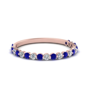 Sapphire Shared Prong Wedding Ring