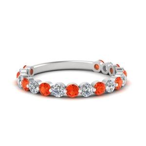 single-common-prong-diamond-wedding-band-with-orange-topaz-in-FD121390GPOTO-NL-WG