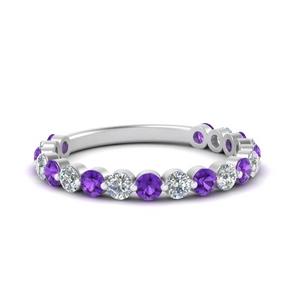 single-common-prong-diamond-wedding-band-with-purple-topaz-in-FD121390GVITO-NL-WG