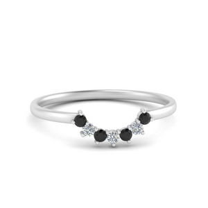 Curved Band For Solitaire Ring