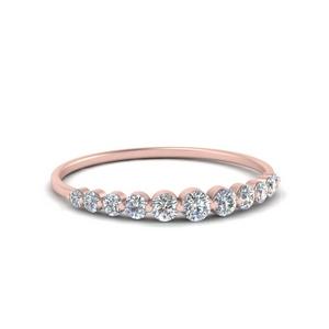 Graduated Women Stackable Diamond Ring