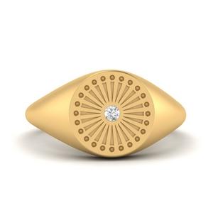 Little Finger Diamond Ring