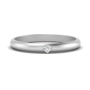 One Diamond Stacking Ring