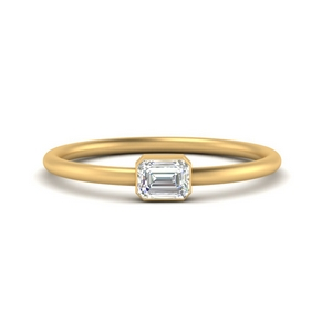 East West Diamond Stacking Ring